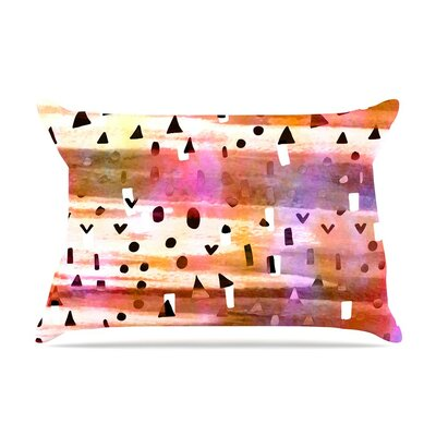 Geo Party- Multicolor Painting by Ebi Emporium Cotton Pillow Sham