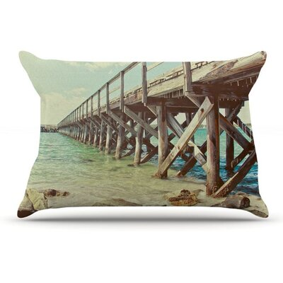 On The Pier by Debbra Obertanec Beach Woven Pillow Sham