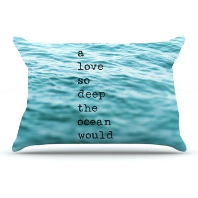 Crave Love by Debbra Obertanec Ocean Woven Pillow Sham