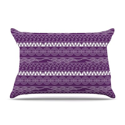 Abstract by Famenxt Lavender Cotton Pillow Sham
