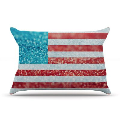 White and Glitter by Beth Engel Featherweight Pillow Sham, Flag