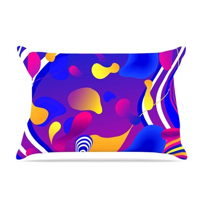 Bubbles Blue by Danny Ivan Cotton Pillow Sham
