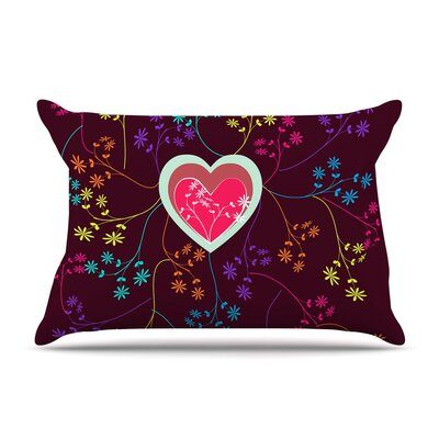 Love Heart by Famenxt Heart Cotton Pillow Sham