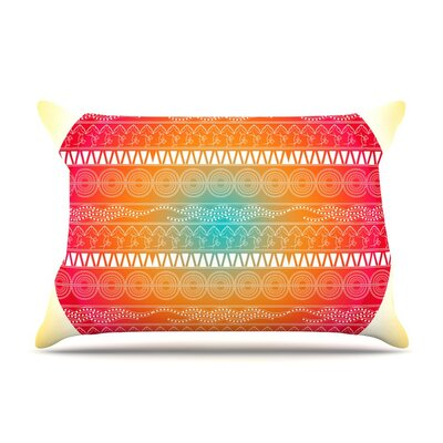 Romantic Abstract by Famenxt Cotton Pillow Sham