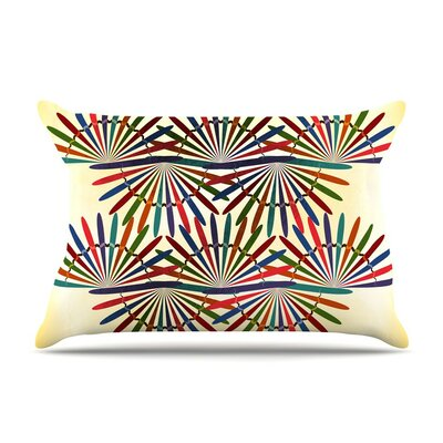 Colorful Abstract by Famenxt Cotton Pillow Sham