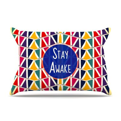 Stay Awake by Famenxt Cotton Pillow Sham