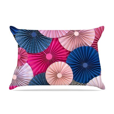 Navy by Heidi Jennings Magenta Blue Cotton Pillow Sham