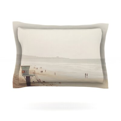 Beach Day by Myan Soffia Beach Ocean Cotton Pillow Sham