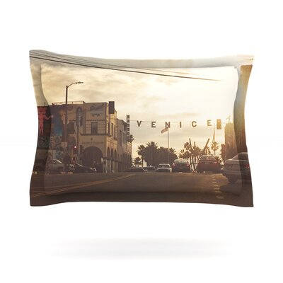 Winter in Venice by Myan Soffia Clouds Sky Cotton Pillow Sham