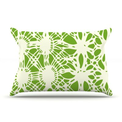 Drawnwork by Laura Nicholson Cotton Pillow Sham