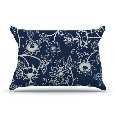 Passion Flower Floral by Laura Nicholson Cotton Pillow Sham