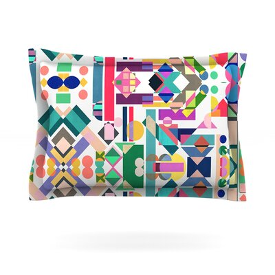 Geometry 2B by Mareike Boehmer Abstract Rainbow Cotton Pillow Sham