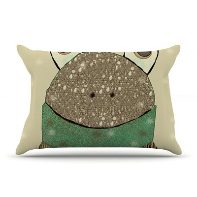 Frog by Bri Buckley Tan Cotton Pillow Sham