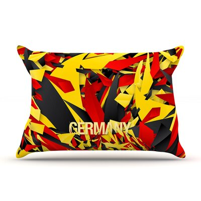 Germany by Danny Ivan World Cup Cotton Pillow Sham