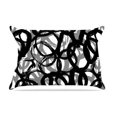 Rhythm Gray by Emine Ortega Cotton Pillow Sham