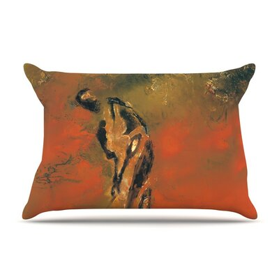 Chip Golf Player by Josh Serafin Cotton Pillow Sham