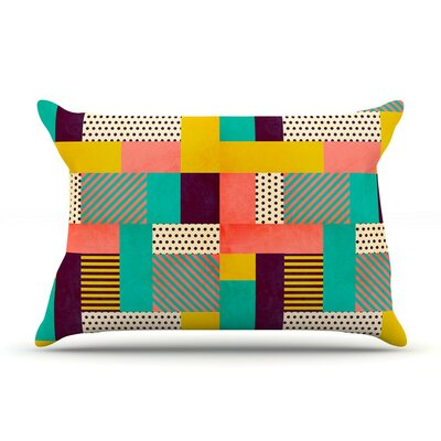 Geometric Love by Louise Machado Abstract Featherweight Pillow Sham