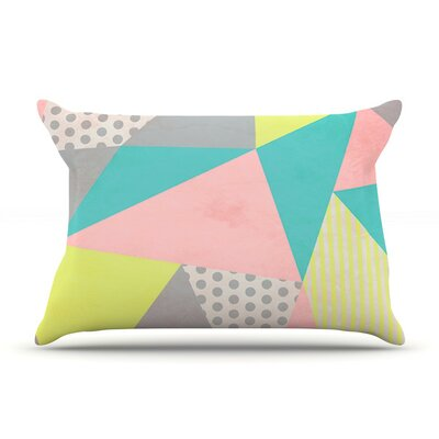 Geometric Pastel by Louise Machado Cotton Pillow Sham