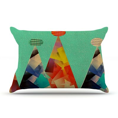 Rainbow Peaks by Bri Buckley Triangles Cotton Pillow Sham