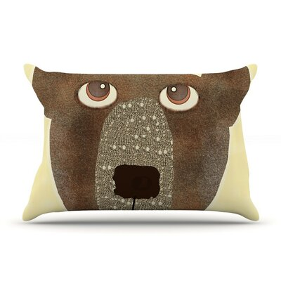 Bear by Bri Buckley Tan Cotton Pillow Sham