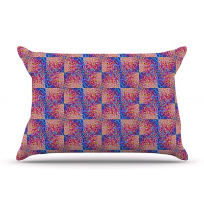 Splash Revisited by Ebi Emporium Blue Cotton Pillow Sham