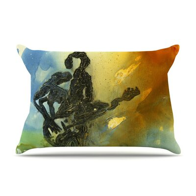 Rhythm by Josh Serafin Guitar Player Cotton Pillow Sham