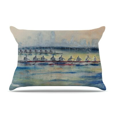 Crew by Josh Serafin Rowing Cotton Pillow Sham