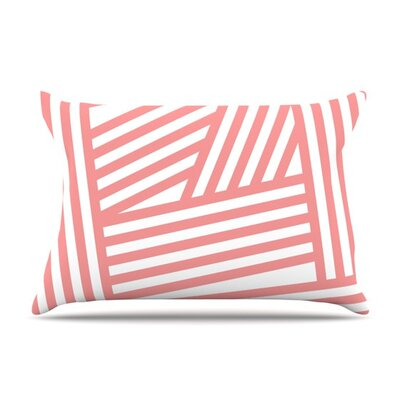 Rose Stripes by Louise Machado Cotton Pillow Sham