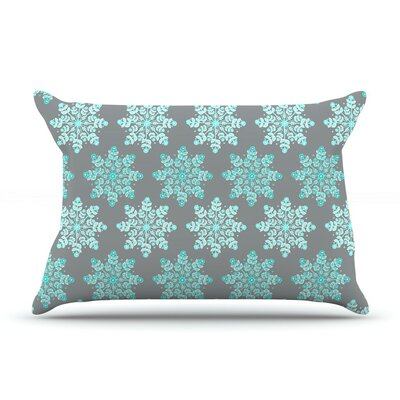 Christmas by Anchobee Blue Cotton Pillow Sham