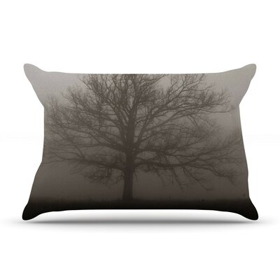 Lonely Tree by Angie Turner Dark Fog Cotton Pillow Sham