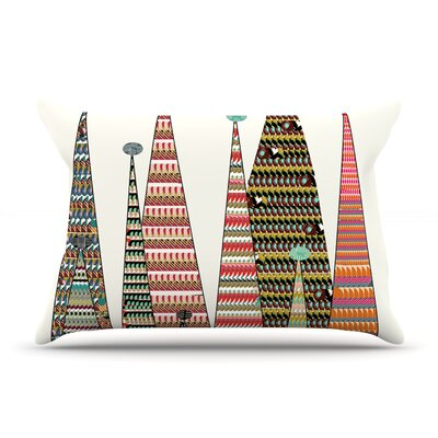 Feather Peaks by Bri Buckley Rainbow Triangles Cotton Pillow Sham