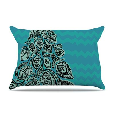 Peacock II by Brienne Jepkema Green Featherweight Pillow Sham
