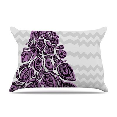 Peacock Purple by Brienne Jepkema Lavender Cotton Pillow Sham