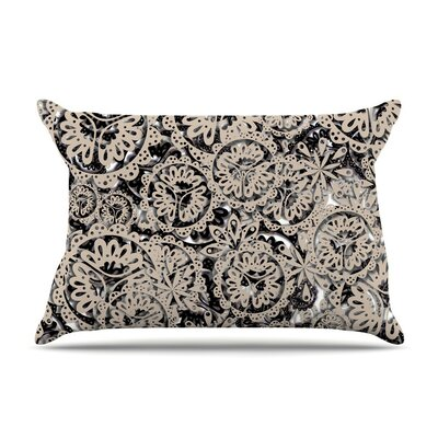 Snowflakes by Akwaflorell Cotton Pillow Sham