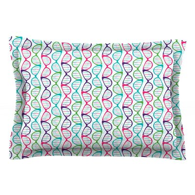 Geeky DNA by Holly Helgeson Blue Featherweight Pillow Sham