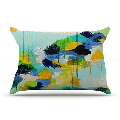 Journey to Paradise by Ebi Emporium Aqua Featherweight Pillow Sham