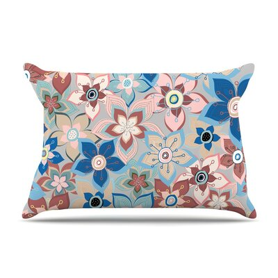 Marsala Floral Mix by Jolene Heckman Blue Featherweight Pillow Sham