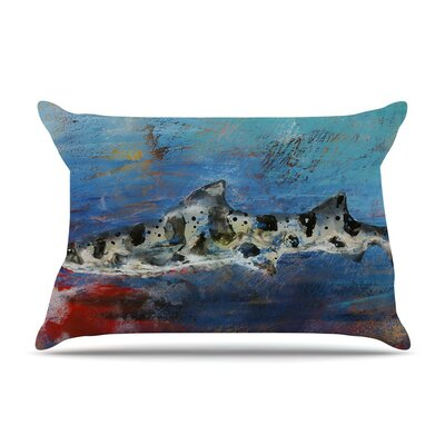 Sea Leopard by Josh Serafin Shark Cotton Pillow Sham
