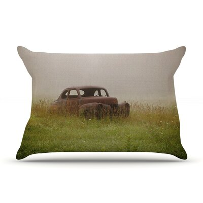 Forgotten Car by Angie Turner Featherweight Pillow Sham, Grass