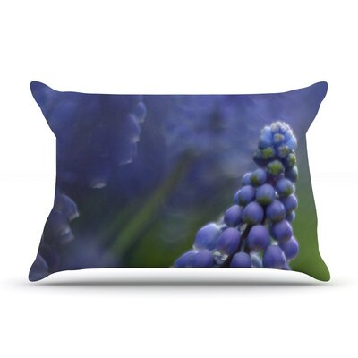 Grape Hyacinth by Angie Turner Featherweight Pillow Sham, Green