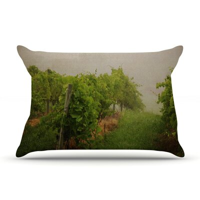 Grape Vines by Angie Turner Foggy Cotton Pillow Sham