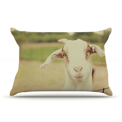 Happy Goat by Angie Turner Smiling Animal Cotton Pillow Sham