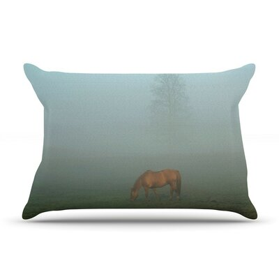 Horse in Fog by Angie Turner Mist Cotton Pillow Sham