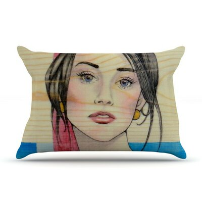 Face by Brittany Guarino Cotton Pillow Sham