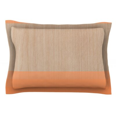Art by Brittany Guarino Orange Wood Cotton Pillow Sham