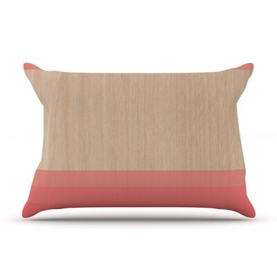 Art Red by Brittany Guarino Wood Featherweight Pillow Sham