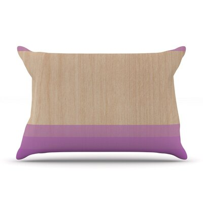 Art by Brittany Guarino Lavender Wood 40 by 20-Inch Cotton Pillow Sham, King