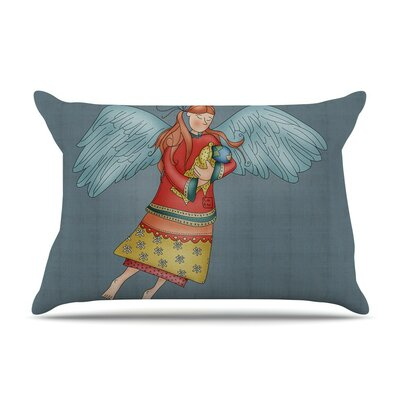 Guardian Angel by Carina Povarchik Cotton Pillow Sham