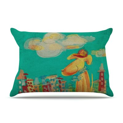 Perrito by Carina Povarchik Dog Cotton Pillow Sham