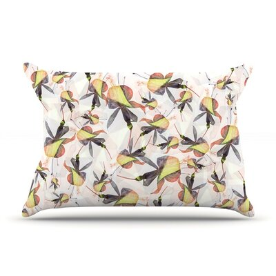 Fuchsia on The Wind by Akwaflorell Cotton Pillow Sham